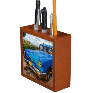 Old American classic car in Trinidad, Cuba Desk Organiser