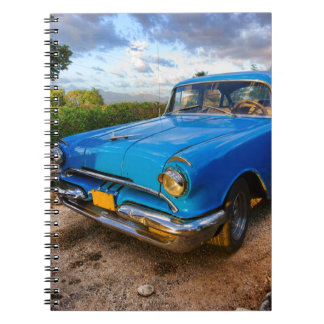 Old American classic car in Trinidad, Cuba Notebook