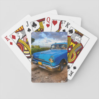 Old American classic car in Trinidad, Cuba Playing Cards