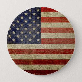 Old American Flag 10 Cm Round Badge