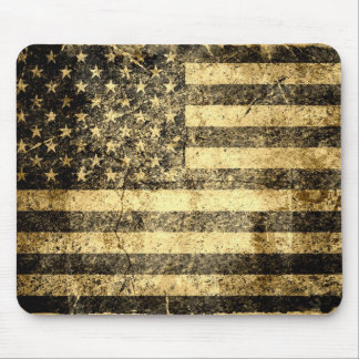 Old American Flag Grunge 2 Mouse Mat