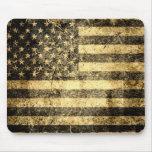 Old American Flag Grunge 2 Mousepad