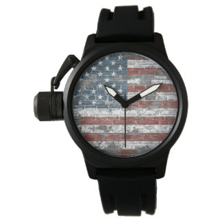 old American flag Wrist Watches