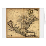 Old American Map Greeting Card