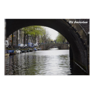 Old Amsterdam Bridge Poster