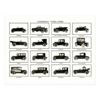 Old and classic car (retro auto): Vintage Cars Postcard