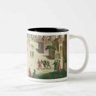 Old and New Delhi (aquatint) Two-Tone Coffee Mug