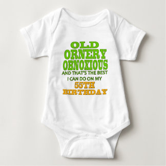 Old and Ornery 55th Birthday Gifts Tshirts