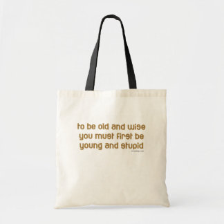old and wise tote bags