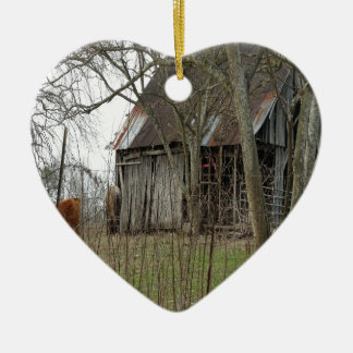Old Antique Barn Christmas Ornament