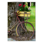 Old Antique Bicycle with Flower Basket