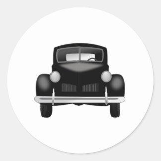 Old Antique Car Round Sticker