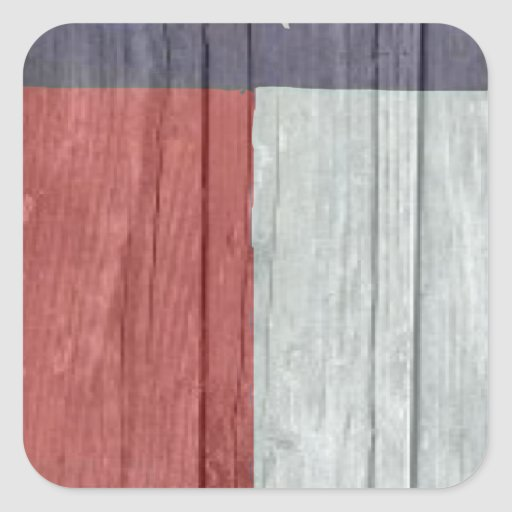Old antique faded wood Texas Flag Stickers