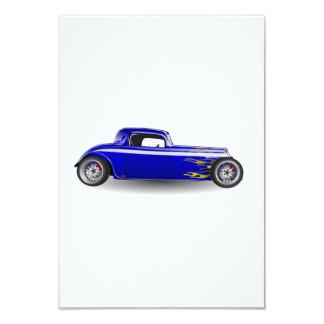 Old Antique Hot Rod Car 9 Cm X 13 Cm Invitation Card