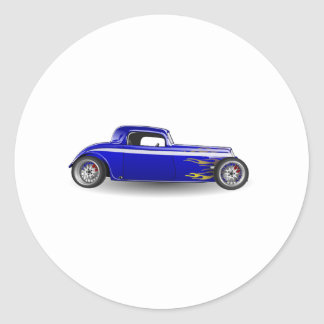 Old Antique Hot Rod Car Round Stickers