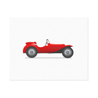 Old Antique Sports Car Gallery Wrapped Canvas