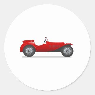 Old Antique Sports Car Round Sticker