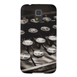 Old Antique Typewriter Keys Black White Cases For Galaxy S5