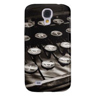 Old Antique Typewriter Keys Black White Galaxy S4 Case