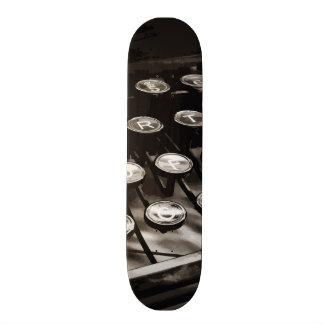 Old Antique Typewriter Keys Black White Custom Skate Board