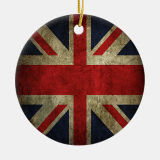 Old Antique UK British Union Jack Flag Christmas Ornament