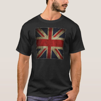 Old Antique UK British Union Jack Flag T-Shirt