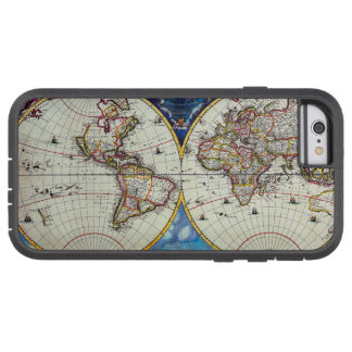 Old Antique Vintage Map of Known World Circa 1630 Tough Xtreme iPhone 6 Case