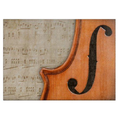 Old Antique Vintage Violin Chopping Board Cutting Board