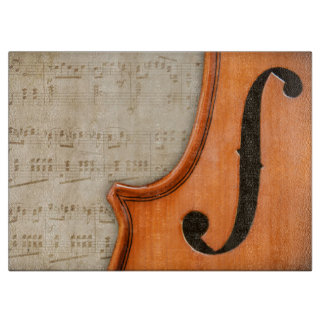 Old Antique Vintage Violin Chopping Board Cutting Boards