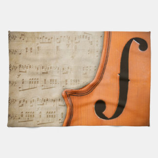 Old Antique Vintage Violin Kitchen Towel