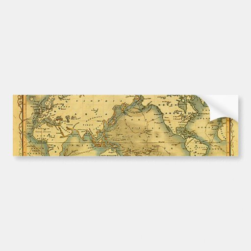 Old Antique World Map Bumper Stickers