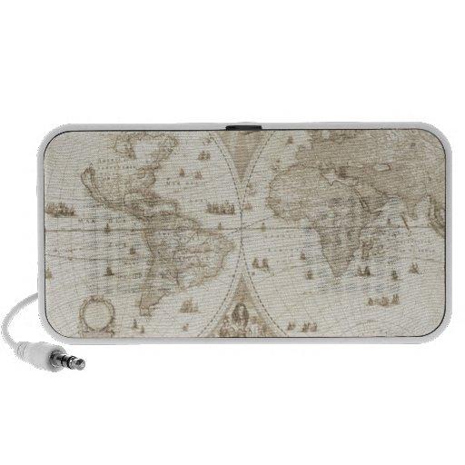 Old, Antique World Map Mp3 Speaker