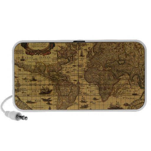 Old Antique World Map Speaker
