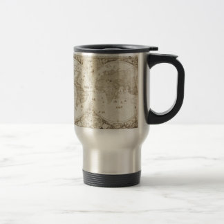 Old, Antique World Map Stainless Steel Travel Mug