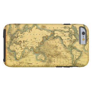 Old Antique World Map Tough iPhone 6 Case