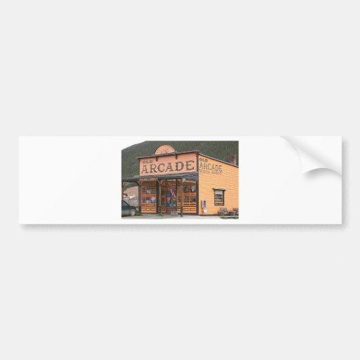 Old Arcade, Silverton, Colorado, USA Bumper Stickers