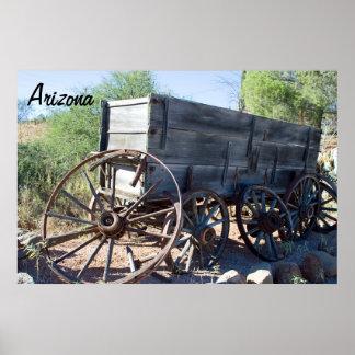 Old Arizona Wagon Poster