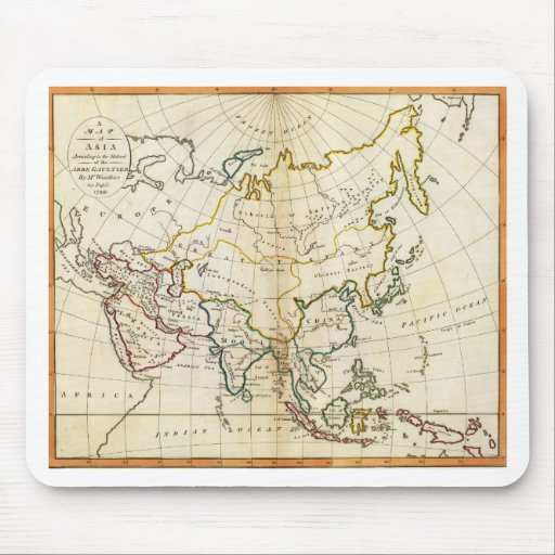 Old Asia map 1799 Mouse Pads