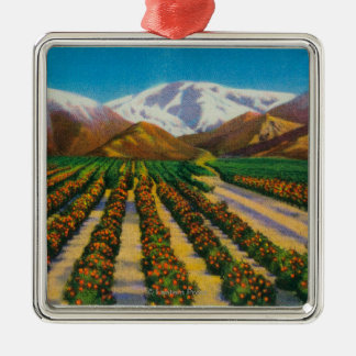 Old Baldy Mountain from the Orange Groves Christmas Ornament
