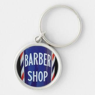 old barber shop sign key ring