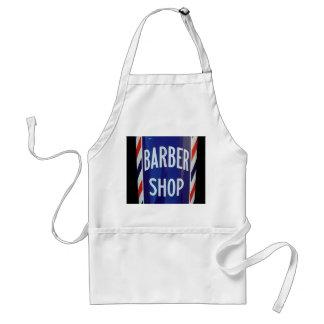 old barber shop sign standard apron