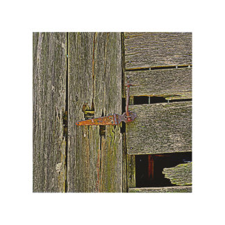 """""""OLD BARN"""" 8 x 8 PHOTOGRAPH ON WOOD Wood Canvases"""
