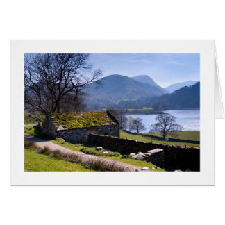 Old barn and Ullswater - The Lake District Greeting Card