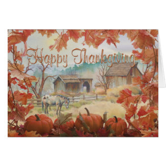 OLD BARN & APPALOOSA by SHARON SHARPE Card