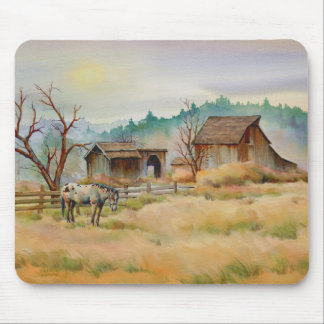 OLD BARN & APPALOOSA by SHARON SHARPE Mouse Mat