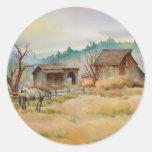 OLD BARN & APPALOOSA by SHARON SHARPE Round Sticker