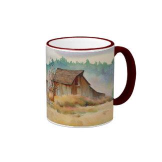 OLD BARN by SHARON SHARPE Ringer Mug