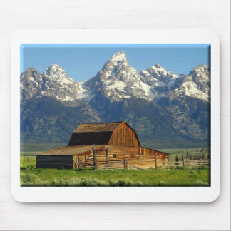 Old Barn Grand Tetons Mouse Pad