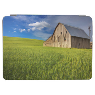 Old Barn in Field of Spring Wheat iPad Air Cover