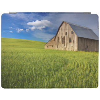Old Barn in Field of Spring Wheat iPad Cover